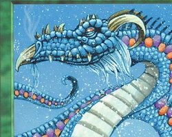 Magic the Gathering 5th Edition Card: Scaled Wurm