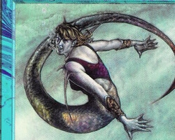 Magic the Gathering 5th Edition Card: Seasinger