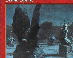 Magic the Gathering 5th Edition Card: Stone Spirit