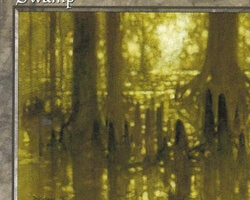 Magic the Gathering 5th Edition Card: Swamp (d)