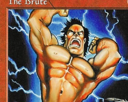 Magic the Gathering 5th Edition Card: The Brute