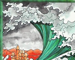 Magic the Gathering 5th Edition Card: Tsunami