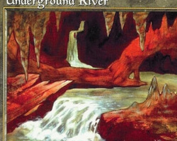 Magic the Gathering 5th Edition Card: Underground River