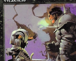 Magic the Gathering 5th Edition Card: Weakness