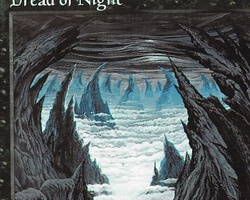 Magic the Gathering 6th Edition Card: Dread of Night