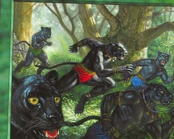 Magic the Gathering 6th Edition Card: Panther Warriors