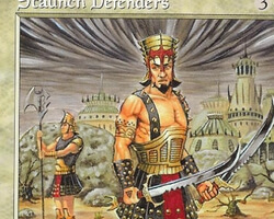 Magic the Gathering 6th Edition Card: Staunch Defenders