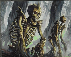 Magic the Gathering 7th Edition Card: Drudge Skeletons