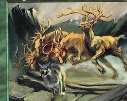 Magic the Gathering 7th Edition Card: Gang of Elk
