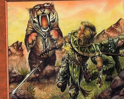 Magic the Gathering 7th Edition Card: Sabretooth Tiger