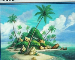 Magic the Gathering 8th Edition Card: Island (a)