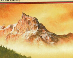 Magic the Gathering 8th Edition Card: Mountain (d)