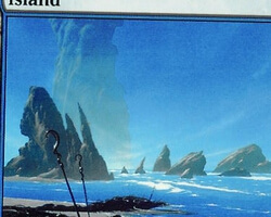 Magic the Gathering 9th Edition Card: Island (d)