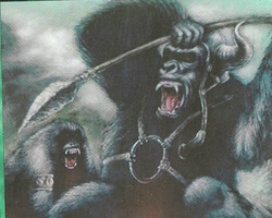 Magic the Gathering Alliances Card: Gorilla Berserkers