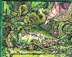 Magic the Gathering Anthologies Card: Carnivorous Plant from Legends