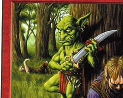 Magic the Gathering Anthologies Card: Goblin Hero from The Dark