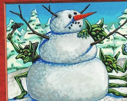 Magic the Gathering Anthologies Card: Goblin Snowman from Ice Age