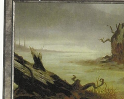 Magic the Gathering Anthologies Card: Swamp (a) from Tempest