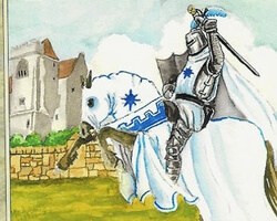 Magic the Gathering Anthologies Card: White Knight