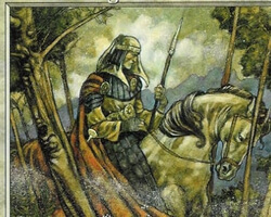 Magic the Gathering Anthologies Card: Youthful Knight from Stronghold