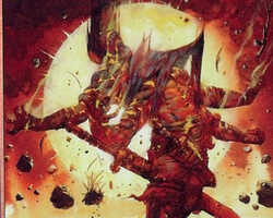 Magic the Gathering Apocalypse Card: Bloodfire Colossus (Foil)