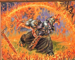 Magic the Gathering Apocalypse Card: Bloodfire Dwarf