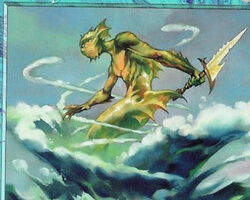 Magic the Gathering Apocalypse Card: Whirlpool Rider