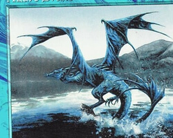 Magic the Gathering Battle Royale Card: Azure Drake from 5th Edition