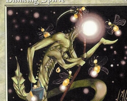 Magic the Gathering Battle Royale Card: Blinking Spirit from 5th Edition