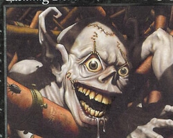 Magic the Gathering Battle Royale Card: Cackling Fiend from Urza's Saga