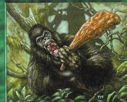 Magic the Gathering Battle Royale Card: Gorilla Warrior from Portal
