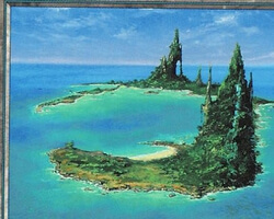 Magic the Gathering Battle Royale Card: Island (b) from Urza's Saga