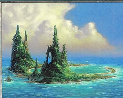 Magic the Gathering Battle Royale Card: Island (d) from Urza's Saga