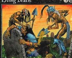 Magic the Gathering Battle Royale Card: Living Death from Tempest