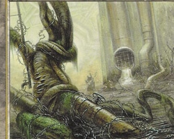 Magic the Gathering Battle Royale Card: Polluted Mire from Urza's Saga
