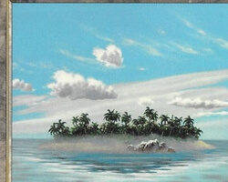 Magic the Gathering Battle Royale Card: Remote Isle from Urza's Saga
