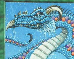 Magic the Gathering Battle Royale Card: Scaled Wurm from Ice Age