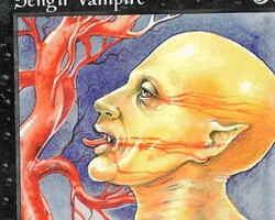 Magic the Gathering Battle Royale Card: Sengir Vampire from 4th Edition