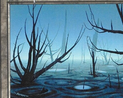 Magic the Gathering Battle Royale Card: Swamp (a) from Urza's Saga