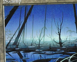 Magic the Gathering Battle Royale Card: Swamp (d) from Urza's Saga