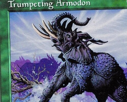 Magic the Gathering Battle Royale Card: Trumpeting Armodon from Tempest