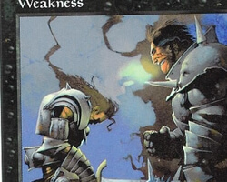 Magic the Gathering Battle Royale Card: Weakness from 5th Edition