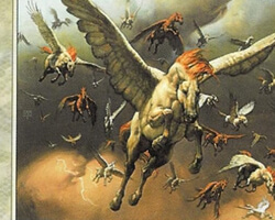 Magic the Gathering Beatdown Card: Pegasus Stampede from Exodus