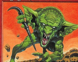 Magic the Gathering Beatdown Card: Raging Goblin from Exodus