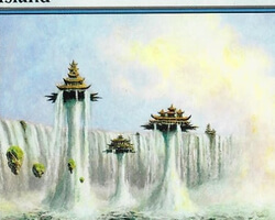 Magic the Gathering Champions of Kamigawa Card: Island (b)
