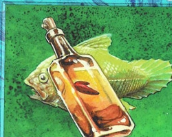 Magic the Gathering Chronicles Card: Fishliver Oil from Arabian Nights
