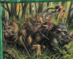 Magic the Gathering Exodus Card: Crashing Boars