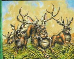 Magic the Gathering Exodus Card: Jackalope Herd