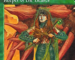 Magic the Gathering Exodus Card: Keeper of the Beasts