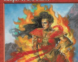 Magic the Gathering Exodus Card: Keeper of the Flame